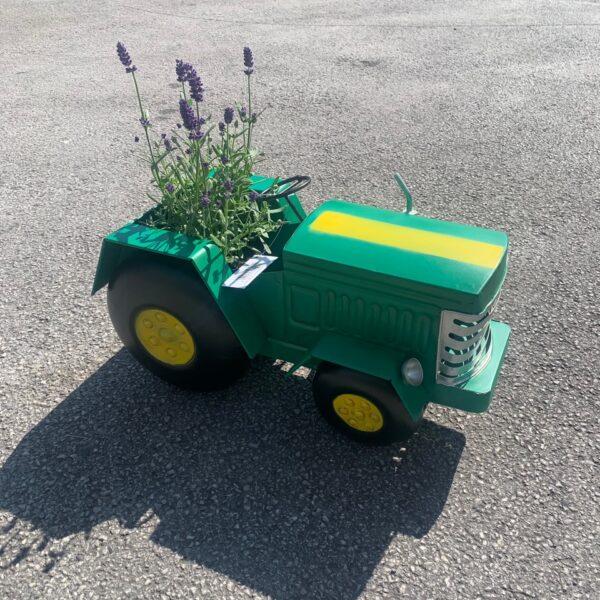 Green Tractor Garden Planter