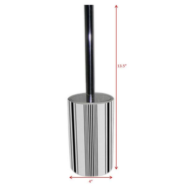 Ceramic Toilet Brush holder Black Stripe